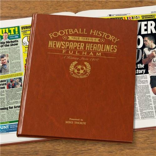 Personalised Fulham Football Book